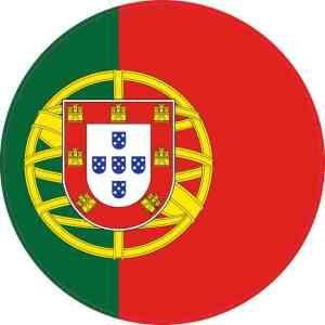 Round Portugal Flag Sticker