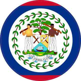 Round Belize Flag Sticker