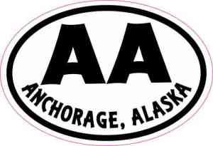 Oval AA Anchorage Alaska Sticker