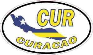 Oval CUR Curacao Sticker