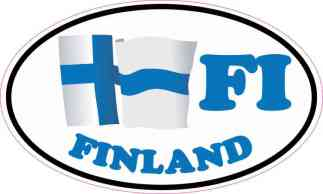 Oval FI Finland Flag Sticker