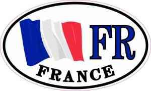 Oval France Flag Sticker