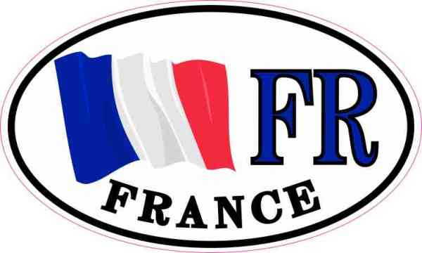 Oval France Flag Sticker