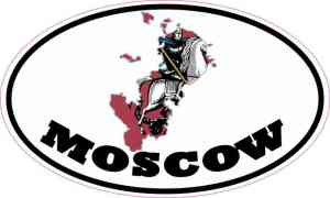 Oval Moscow Sticker