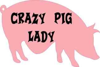 Crazy Pig Lady Sticker