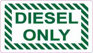 Diesel Only Sticker