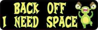 Alien I Need Space Bumper Sticker