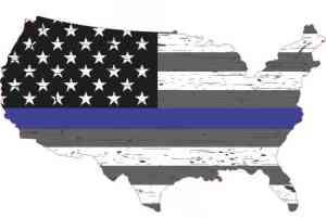 Black White and Gray America Blue Lives Matter Sticker