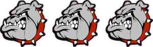 Red Collared Bulldog Mascot Stickers