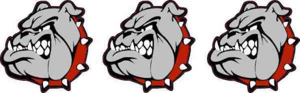 Red Collared Bulldog Mascot Stickers