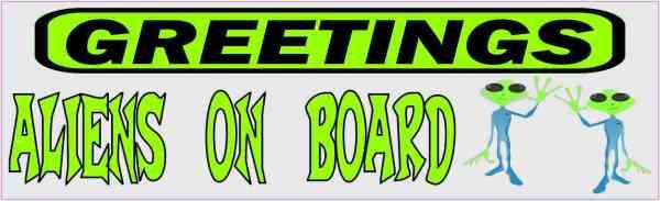 Aliens on Board Magnet