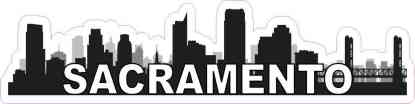 Sacramento Skyline Sticker