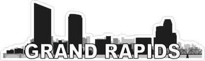 Grand Rapids Skyline Sticker