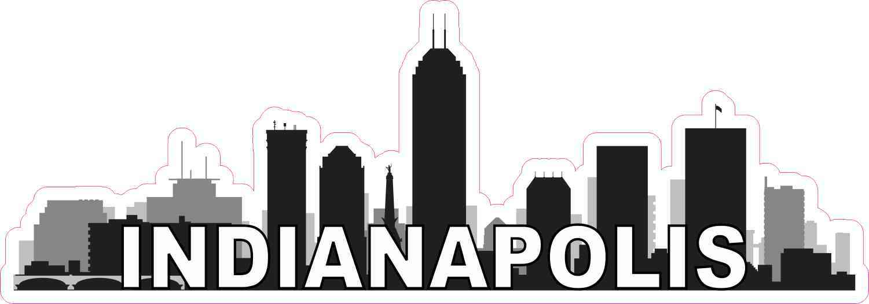 Indianapolis skyline sticker