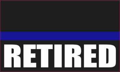 Retired Blue Lives Matter Magnet
