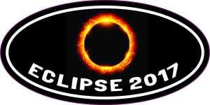 Oval Eclipse 2017 Sticker