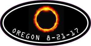 Oval Oregon Eclipse Sticker