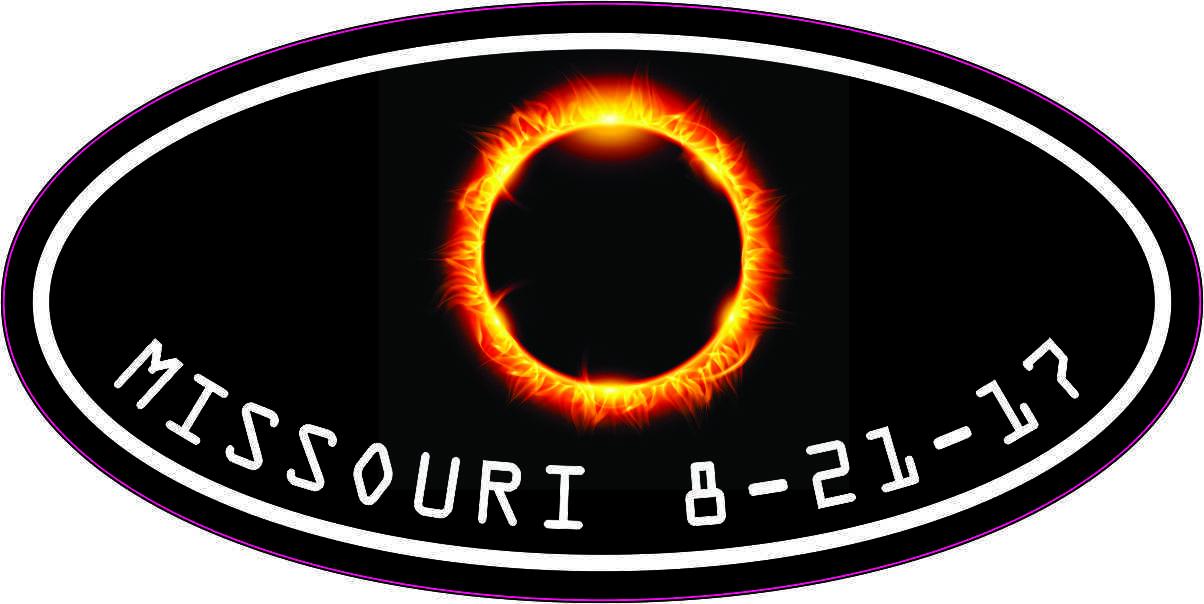 Oval Missouri Eclipse Sticker