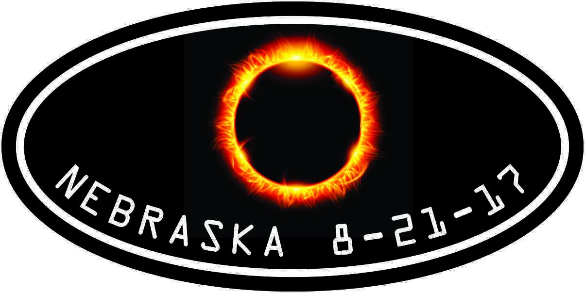 Oval Nebraska Eclipse Sticker