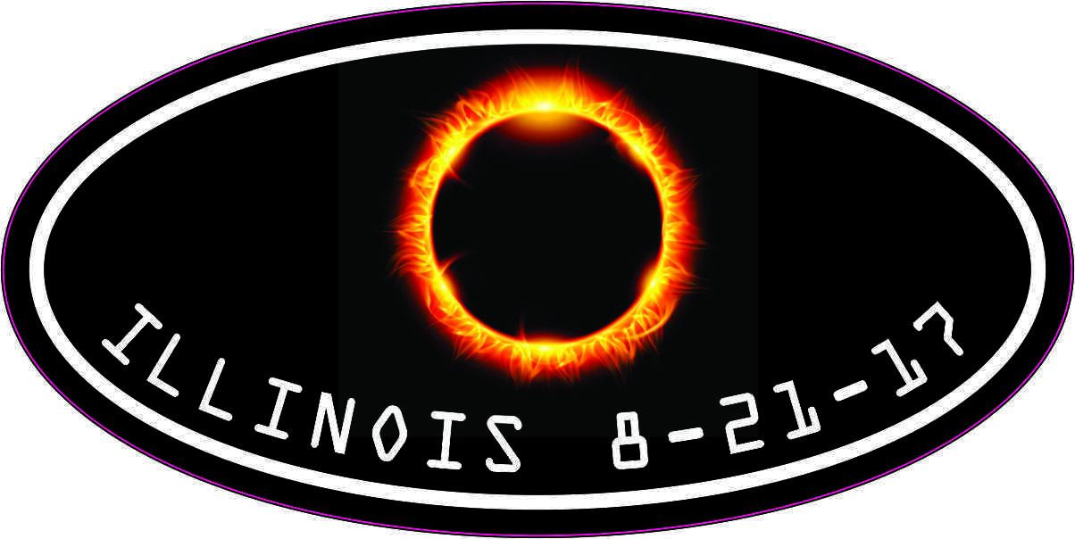 Oval Illinois Eclipse Sticker