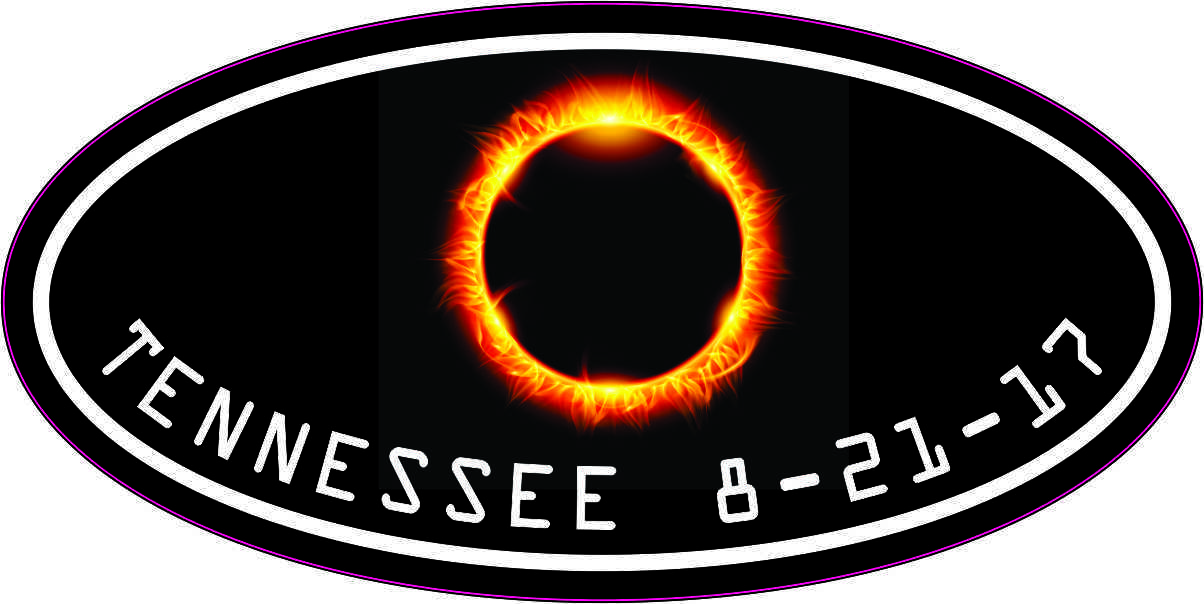 Oval Tennessee Eclipse Sticker
