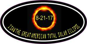 Oval I Saw the Great American Total Solar Eclipse Sticker