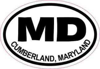 Oval MD Cumberland Maryland Sticker