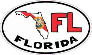 Oval FL Florida Sticker