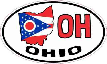Oval OH Ohio Sticker