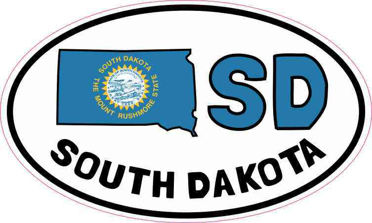 Oval SD South Dakota Sticker