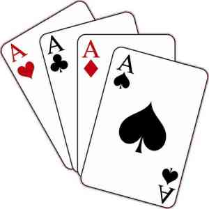 Set of Aces Cards Sticker