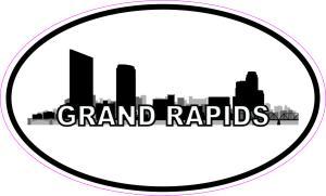 Oval Grand Rapids Skyline Sticker