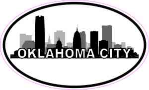 Oval Oklahoma City Skyline Sticker