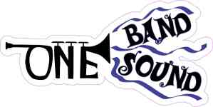 Blue Trumpet One Band One Sound Sticker