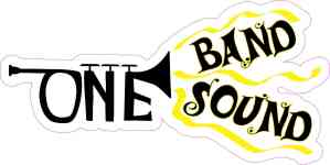 Yellow Trumpet One Band One Sound Sticker