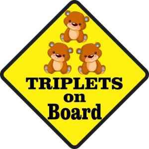 Three Boys Triplets on Board Magnet