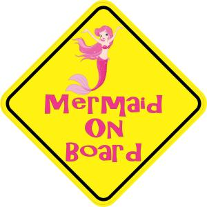 Mermaid On Board Magnet