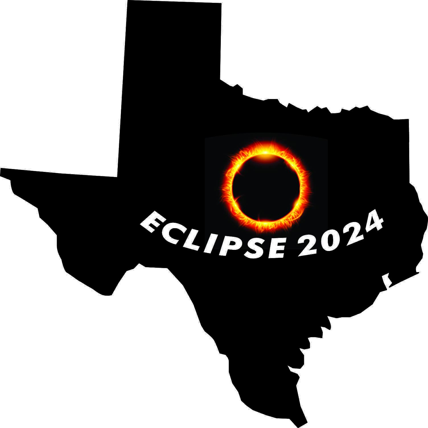 Texas Eclipse 2024 Sticker