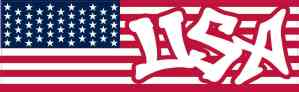 Graffiti USA American Flag Sticker
