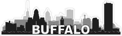 Buffalo Skyline Sticker