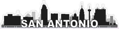 San Antonio Skyline Sticker