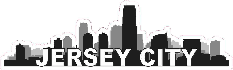 Jersey City Skyline Sticker