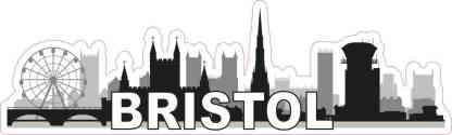 Bristol Skyline Sticker