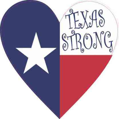 Heart Texas Strong Sticker