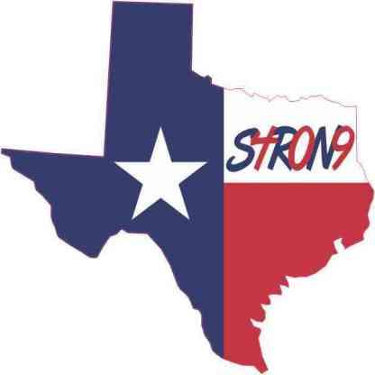 Die Cut Texas 409 Strong Sticker