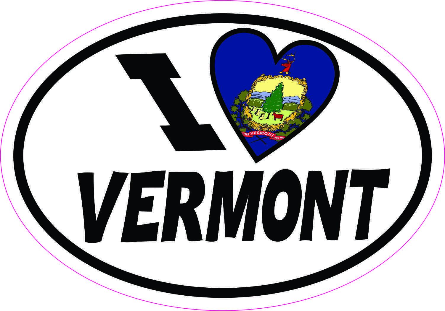 Oval i love vermont sticker