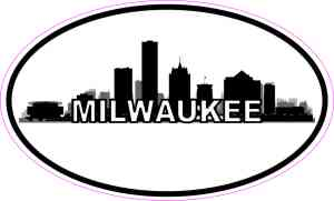 Oval Milwaukee Skyline Sticker