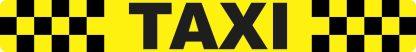 Checkered Taxi Sticker