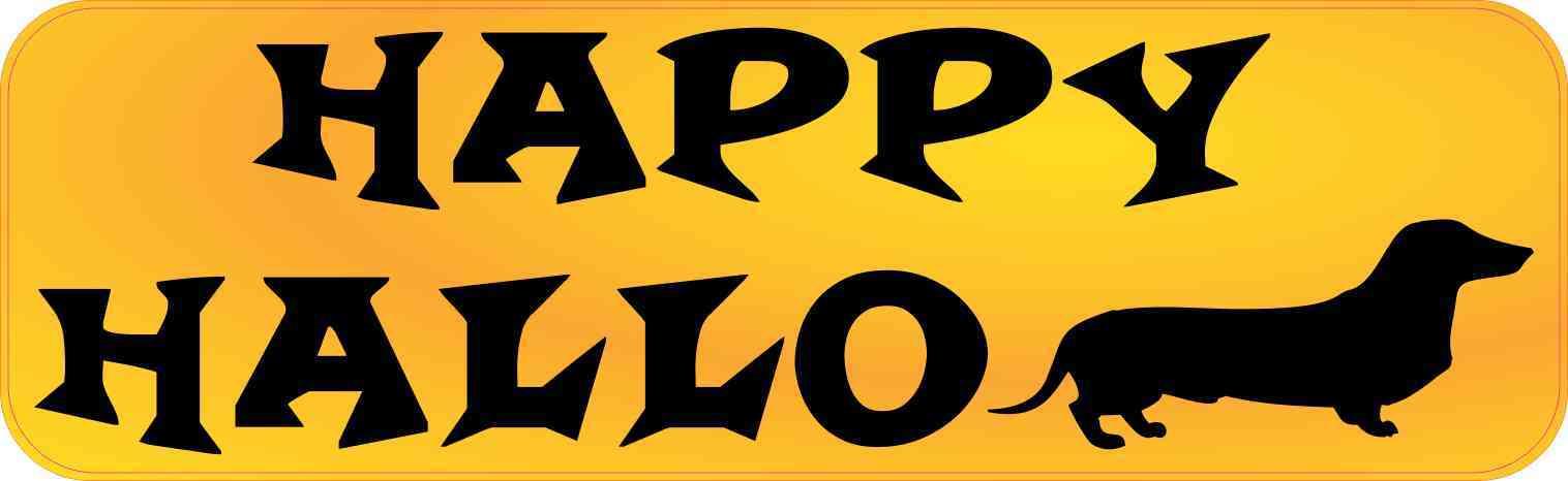 Happy Halloweenie Magnet