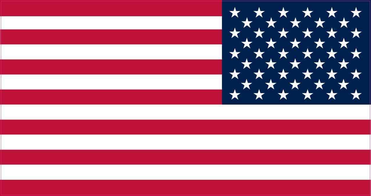 Mirrored American Flag Sticker